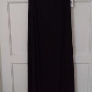 SLNY Dresses - Beaded neck matte jersey dress